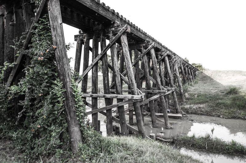 Old wooden bridge in texas