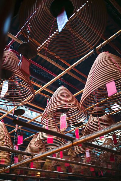 Man Mo Temple Road Hollywood Sheung Wan Culture Chinese Red Travel Spirals Incense Hk Hong Kong Temple Man Mo Temple Hanging Illuminated Decoration Tourism Religion Belief Place Of Worship Arts Culture And Entertainment Multi Colored First Eyeem Photo EyeEmNewHere