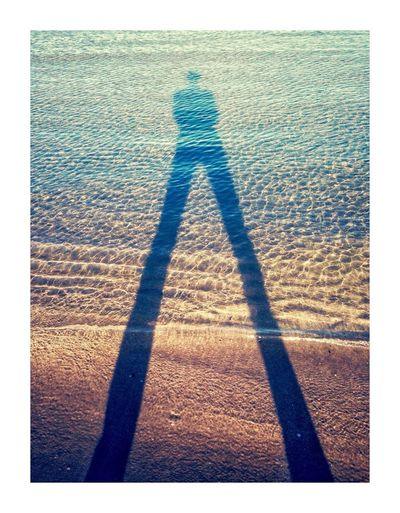 La mer m'as pris Shadow Focus On Shadow Real People Sunlight One Person Standing Day Outdoors Lifestyles Beach Nature One Woman Only People Seascape Shadows & Lights Selfportrait
