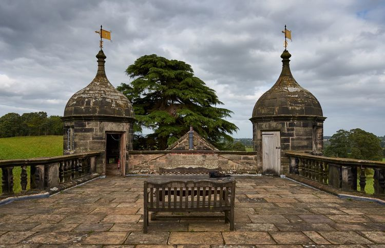 Tixall Gatehouse, Staffordshire, UK (September 2017) Rooftop Roof Bench Weathervane Old Buildings Staffordshire England Historical Building Historic History Weathered Flagstone Turret Architecture Sky Built Structure Cloud - Sky Building Exterior Outdoors History Day No People Tree
