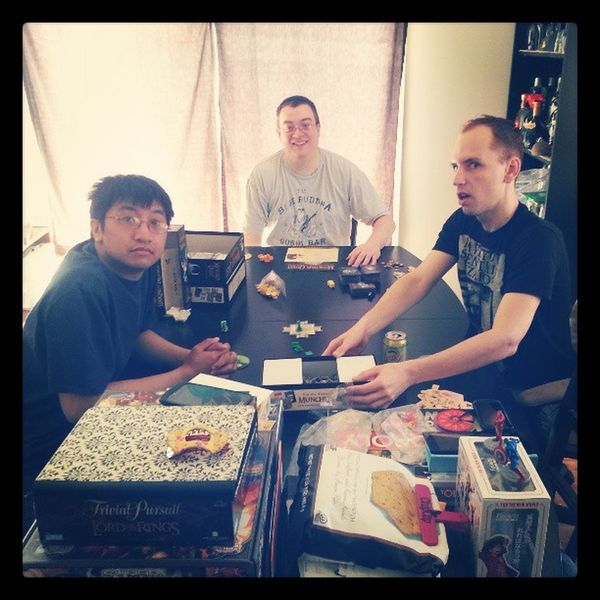 The boys playing Munchkinquest . Aren't they so (nerdy) cute? With @quiethenry29 @reesharded and Scott. Nerdgames Sillyboys Funweekend