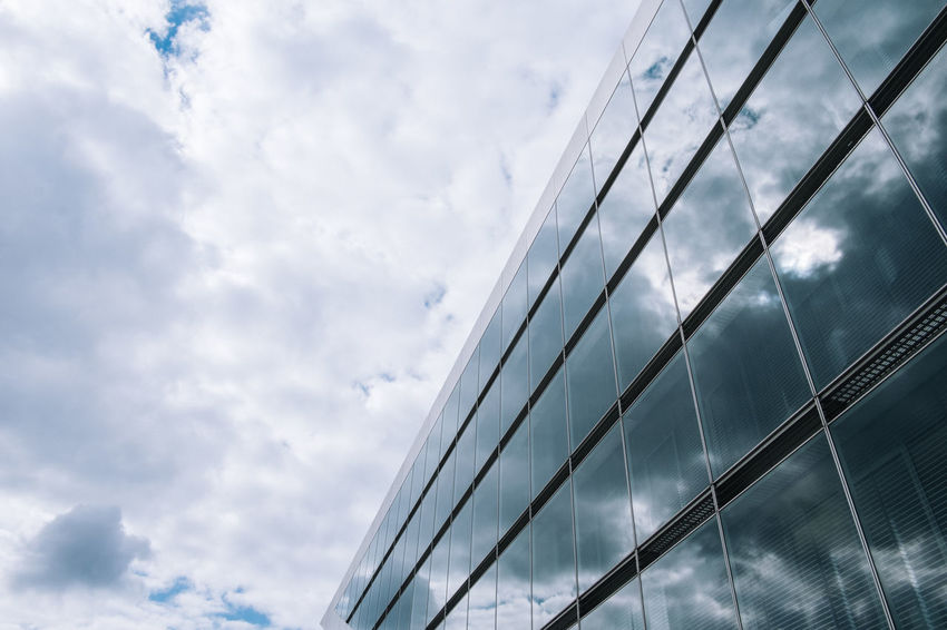 Hamburg Architecture Building Exterior Built Structure City Cloud - Sky Corporate Business Day Dockland Hamburg Hamburg Harbour Low Angle View Modern No People Outdoors Sky