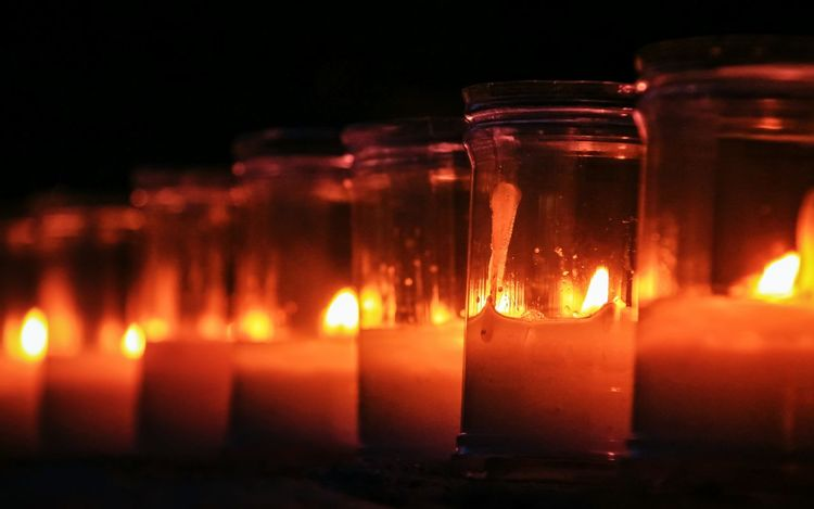 Malephotographerofthemonth EyeEm Gallery Check This Out No People Close-up Outdoors Candles Flames Velas Heat - Temperature Selective Focus Pedraza Noche De Las Velas En Pedraza Row Of Things Neon Life