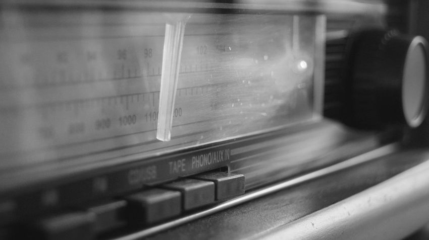 Old radio Arts Culture And Entertainment Black And White Blackandwhite Close-up Control Panel Day Indoors  Music No People Old-fashioned Radio Retro Retro Styled Selective Focus Sommergefühle Technology The Week On EyeEm Rethink Things Black And White Friday EyeEm Ready