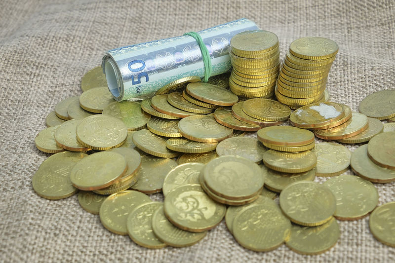 Gold coins and