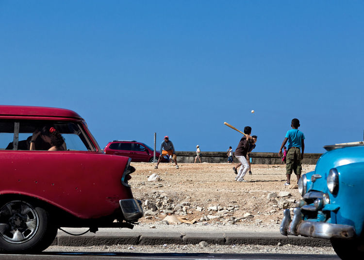 Beyond the wall! Baseball Cuba Kids Outdoors Red Street The Street Photographer - 2017 EyeEm Awards