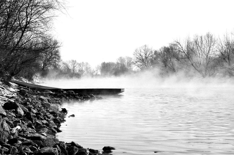 Vistula, boat, river, steam, Taking Photos Relaxing,Poland, On The Way, no people, landscape, w Fishing Wisła River Winter Frozen Vistula Taking Photos Relaxing Monochrome Photography Black And White Photography The Great Outdoors - 2017 EyeEm Awards Foggy The Great Outdoors - 2018 EyeEm Awards