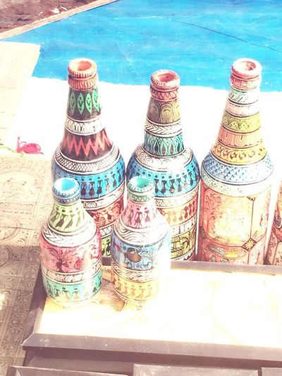 Pattachitra bottles. Pattachitra Craft Indian Painted Bottles