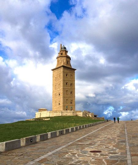 Vacations Holidays Sunrise Sky Destination Galicia, Spain Architecture Building Tourism Summertime Summer Monument Historical Building Historic Landscapes La Coruña Lighthouse