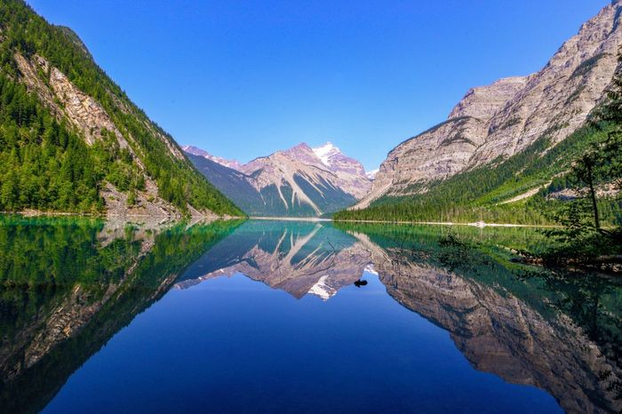 Kinney Lake Water Reflection Mountain Scenics - Nature Lake Blue Beauty In Nature Tranquility Tranquil Scene Nature Sky Idyllic Plant Tree Waterfront Non-urban Scene Mountain Range Clear Sky No People Outdoors