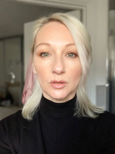 This is me. Just playing around with camera Portrait Headshot Looking At Camera One Person Women Adult Young Adult Young Women Blond Hair Beauty Beautiful Woman Front View Hair Turtleneck Real People Indoors