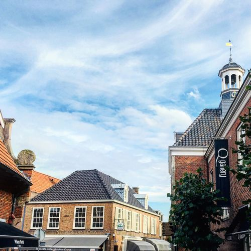 Holland Netherlands Architecture Ootmarsum Twente Dutch Sunday Weekend Blue Sky Outdoors Bell Tower City