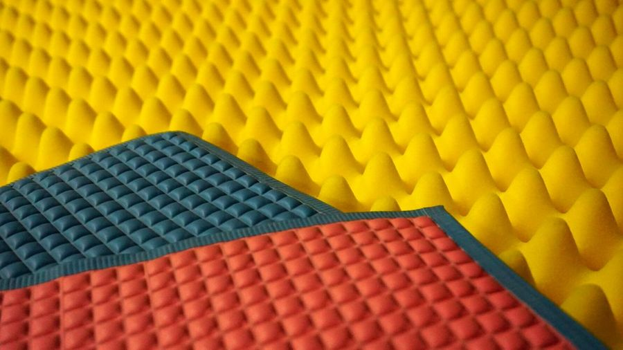 Close-Up Of Various Colorful Doormat