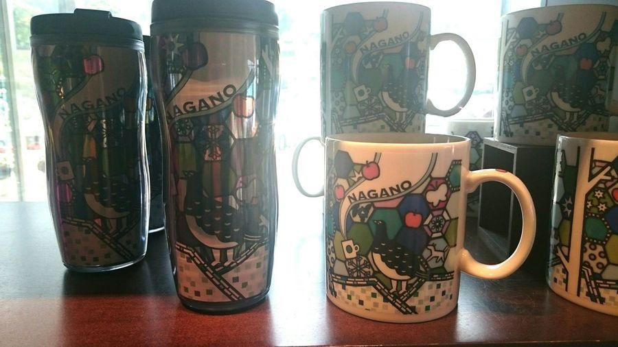 スターバックス長野限定タンブラー&マグ♪雷鳥やリンゴがステンドグラス調にデザインされたアートな逸品(*´∇`*) Starbucks Tumbler Mug Limited Japan ArtWork Photography ~カメログまたここで~