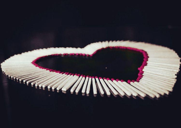Love ♥ EyeEm Gallery Eyeemphotography Creative Click EyeEm Diversity EyeEmNewHere Matchstick Pinklove Heart Shape