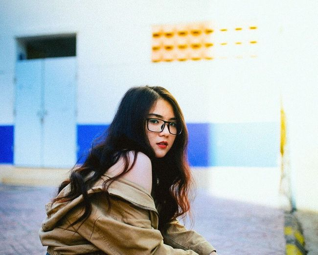 Film color Lifestyles One Person Young Women Young Adult Real People Portrait