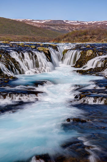 Ice Iceland Iceland Memories Beauty In Nature Blue Bruarfoss Day Iceland Trip Iceland_collection Landscape Mountain Nature No People Outdoors Scenics Sky Tranquil Scene Water