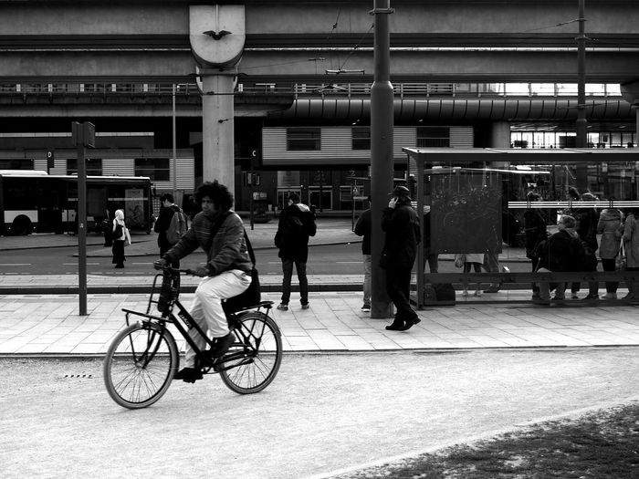 Commuters at Sloterdijk station, Amsterdam Adult Amsterdam Architecture Bicycle Bike Built Structure Commuter Commuting Day Group Of People Large Group Of People Men Mode Of Transport People Public Transportation Public Transportation Real People The Street Photographer - 2017 EyeEm Awards Tram Transportation Waiting Women