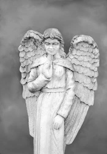 angelic angel statues in black and white Angels ArtWork Beautiful People Statue Unearthly  Angelic Art Cement Religion Religious  Stone Material Wings PrayersBlack And White Human Representation Religious Art Pretty Angel Wings Religion Statue Religion And Beliefs Religious  Female Likeness Sculpture