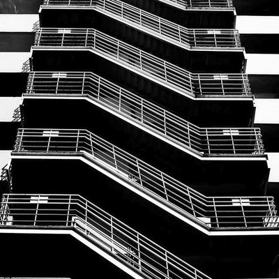 Built Structure Architecture Building Exterior Fire Escape Steps And Staircases Stairs No People MBK Center (เอ็ม บี เค เซ็นเตอร์) Black & White Urban ExplorationEmbrace Urban Life City Bangkok, Thailand Thailand Outdoors