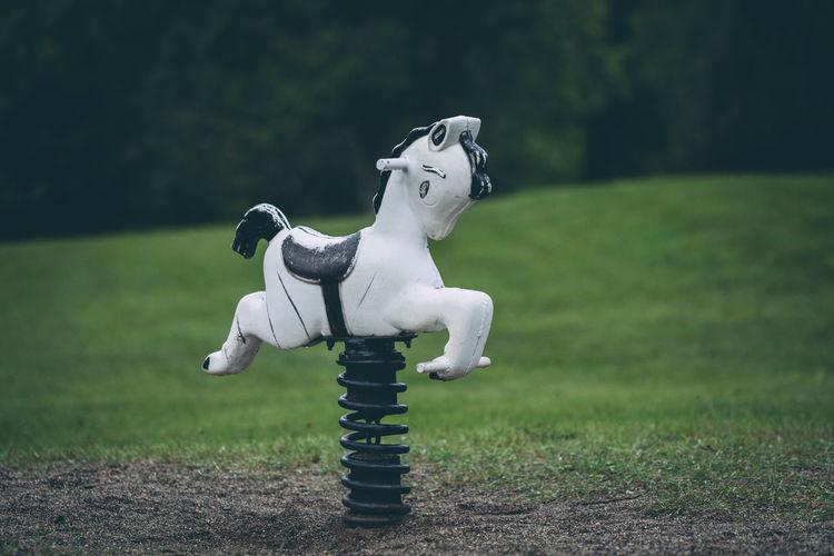 Rocking horse at playground