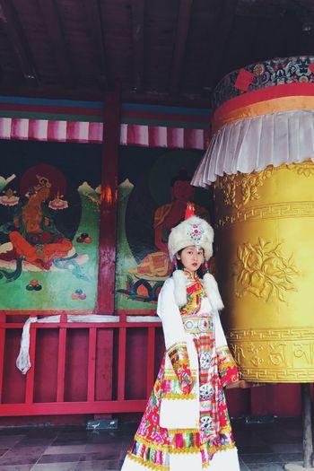 The Zang Costume Tibetan  Costume ThatsMe PhonePhotography Takenbyfriend Colors