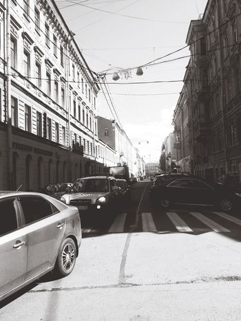 Building Exterior Outdoors Street Architecture Day Saint Petersburg Black And White Friday