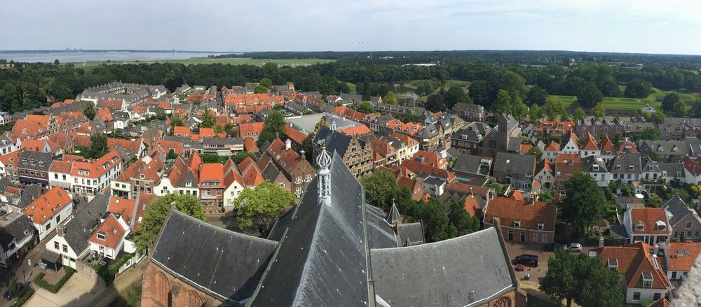 Church Cityscape High Angle View Naarden Naardenvesting Panoramic Town Travel Destinations