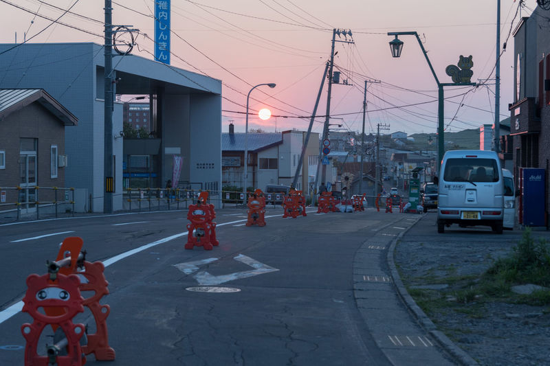 Road Industry Occupation Day Outdoors Small Town No People Sky Sunset Rishiri Island Hokkaido Japan