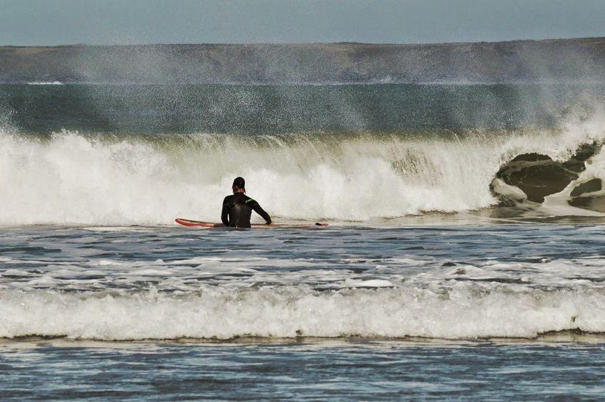 Surfing Life Waves, Ocean, Nature Waves Breaking Surfer Sport Fun Water Wetsuit