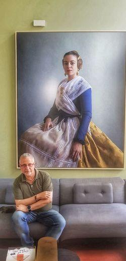 Young Women Togetherness Sitting Full Length Living Room Men Domestic Life Women Bonding Portrait
