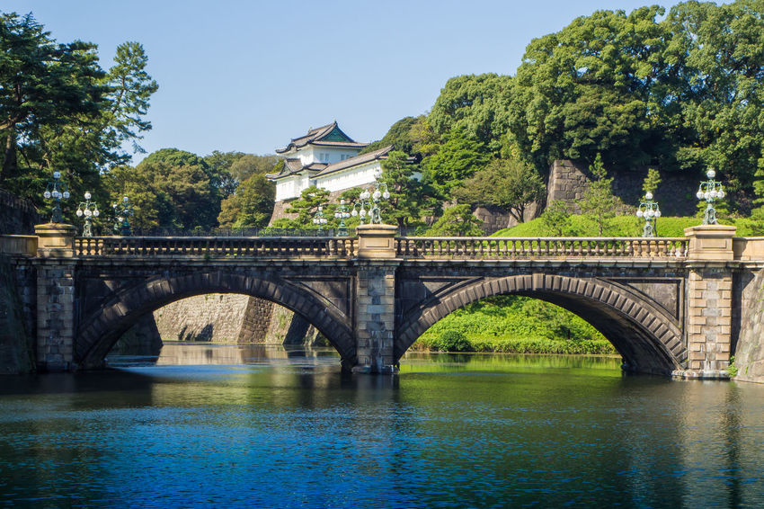 Tokyo Imperial Palace ,Tokyo Imperial Palace and the Seimon Ishibashi bridge : 26 OCTOBER 2017 Architecture Architecture_collection City Japan Seimon Ishibashi Bridge Tokyo Tokyo Imperial Palace Bridge Day Outdoors