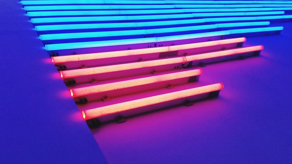 Multi Colored Neons In A Row