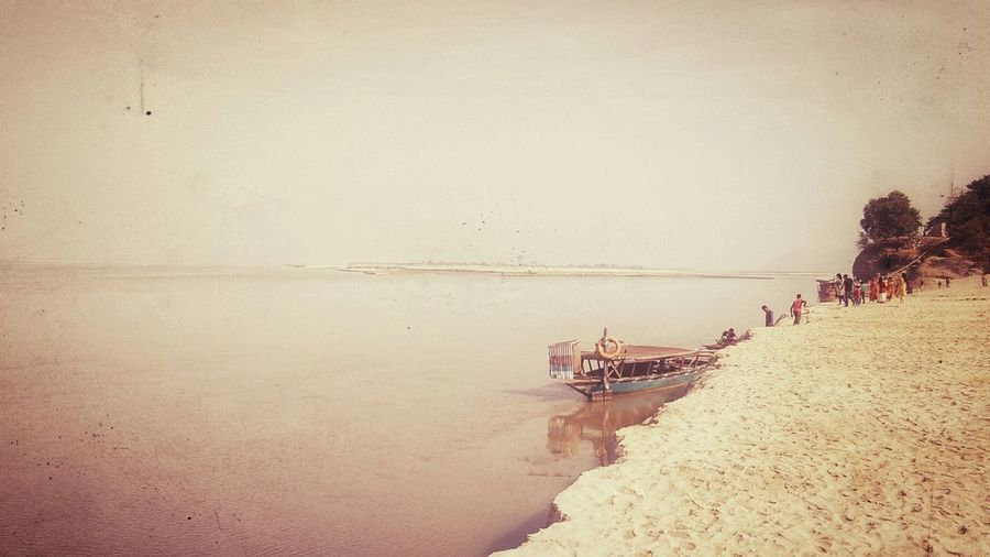 River Riverside River View Brahmaputra Brahmaputra_river Brahmaputra_ghat Sandy Shore Ferry Beauty Of North East India Water Sky Boat Shore Calm Water Vehicle Horizon Over Water