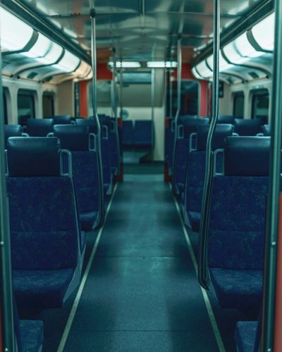 Train to busan Vehicle Interior Transportation Vehicle Seat In A Row Train - Vehicle Public Transportation Travel First Eyeem Photo EyeEm Best Shots EyeEm Gallery EyeEmNewHere Train Vanishing Point Mode Of Transport Train Interior Subway Train Empty Passenger Train Journey Indoors  Commuter Train Seat No People Illuminated Day