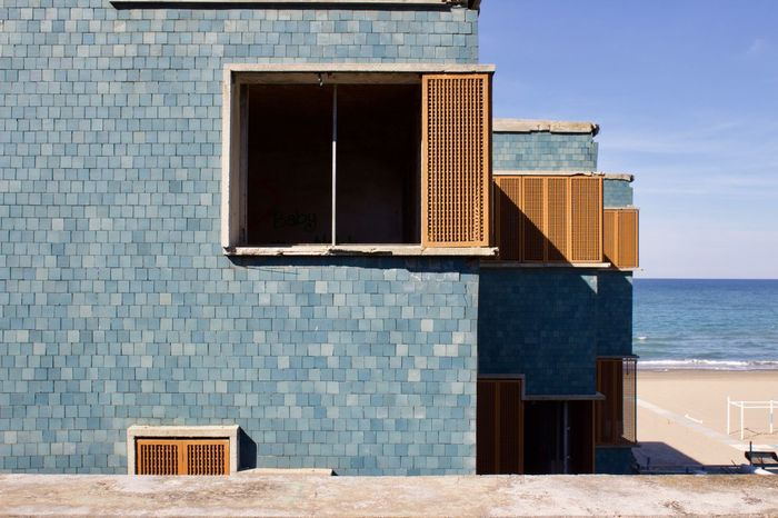 Colonia sip, GDC. Architecture Building Exterior Horizon Over Water Window Outdoors NewinEyeEm  Giancarlo De Carlo Iuav Blue First Eyeem Photo