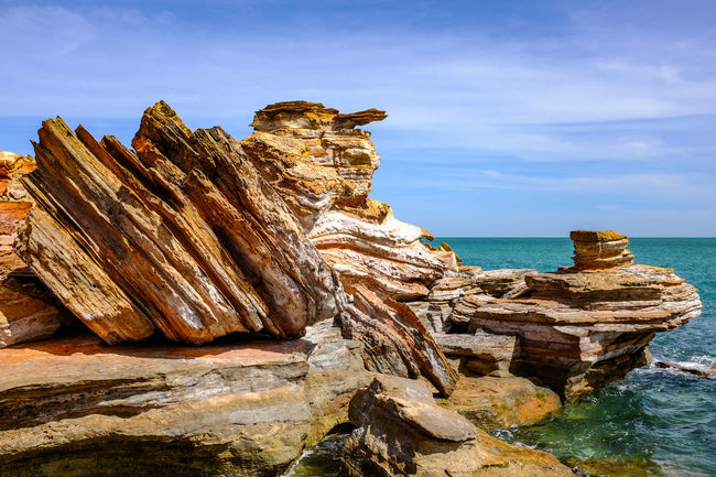 Broome rocky coastline Australia Australian Landscape Coastline EyeEm Best Shots The Week On EyeEm Beauty In Nature Day Horizon Over Water Nature No People Outdoors Rock - Object Scenics Sculpture Sea Sky Statue Travel Destinations Water