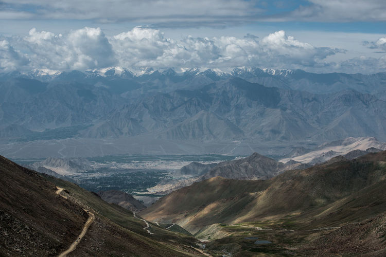 View of Mountain Range Landscape, Leh Ladakh , India Beauty In Nature Day Landscape Mountain Mountain Range Nature No People Outdoors Physical Geography Range Scenics Sky Tranquil Scene Tranquility