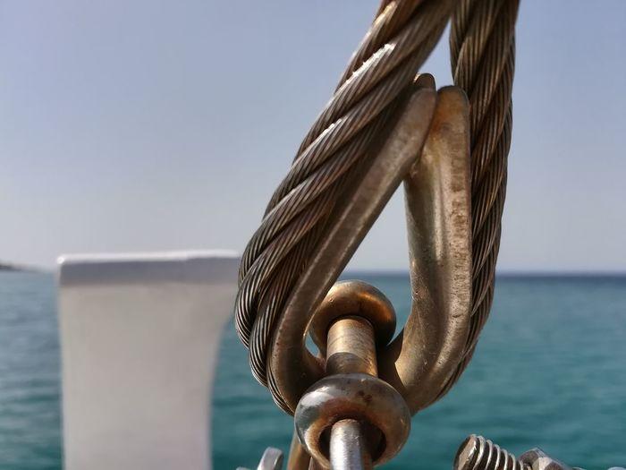 Vessel Part Attache Metal Water Sea Sea Life Harbor Sky Close-up