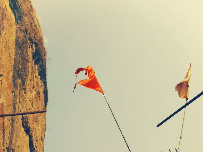 Saffron Flag.. Symbols Hinduism, spritualism, believes God Is OnE.. Clicked 200 meters above sea level. Feelinggreat Cellphone Photography Hinduism God Is One Spritualism Mumbai_in_clicks Adventuring