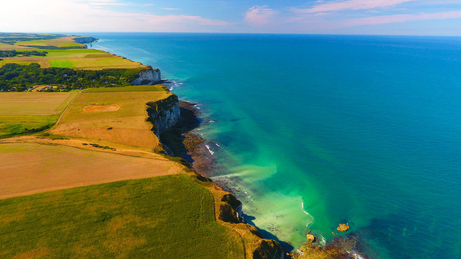 Aerial Photography Aerial View Atlantic Ocean Atlantique Coast Coastline Coastline Côte Normande Day Drone  France Horizon Over Water Landscape Nature Normandie Normandy Rock Formation Shore Tourism Water