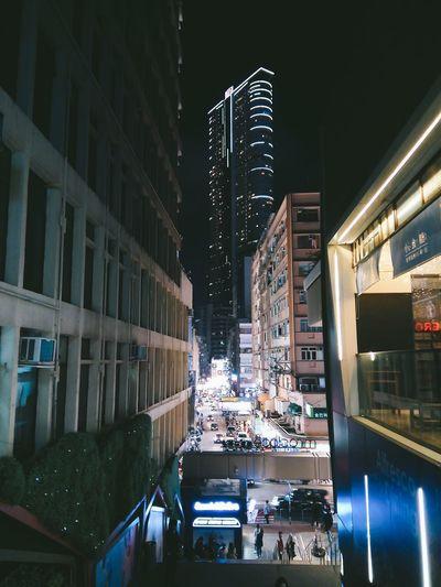 Night City City Street Building Exterior Architecture