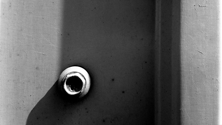 A lonely screw. Abstract Backgrounds Black And White Light And Shadow Minimalism No People Screw
