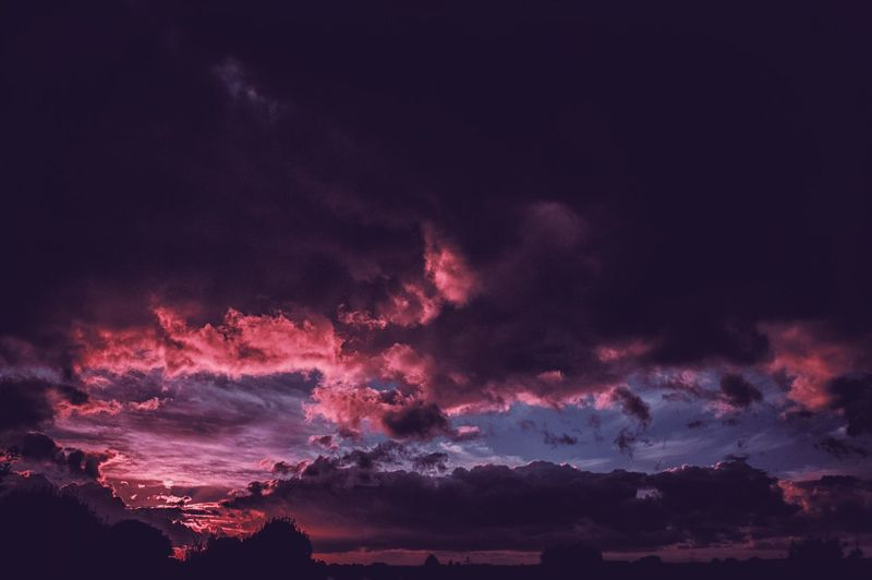 Storm broken Sky Night Beauty In Nature No People Nature Scenics - Nature Tranquil Scene Cloud - Sky Illuminated Low Angle View Tranquility Outdoors Idyllic Dark Awe