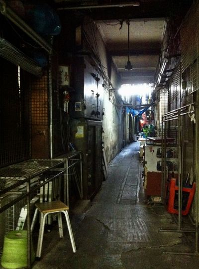 Encounter the old shopping district in Bangkok. Architecture Built Structure Chance Encounters Day Indoors  Lane Laneway Light And Shadow Mess Up Narrow No People Old Shopping District Old Town Out Of Date Perspective Residential Structure The Way Forward Untidy Vacancy