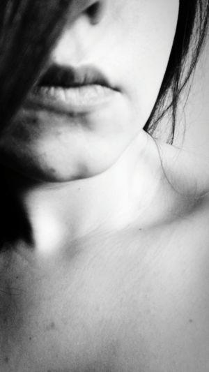 Blackandwhite Night Women Close-up