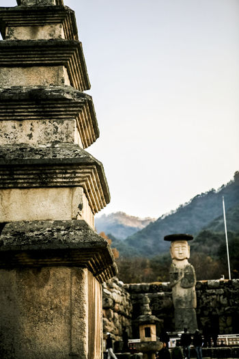 Autumn Buddha Statue Buddhism Buddhist Temple Calm In The Moutains Old Place Outfocusing Quiet Religion Selective Focus Silent Stone Tower Suanboonyopatham Tranquility Valley Wolak Mountain Wolaksan