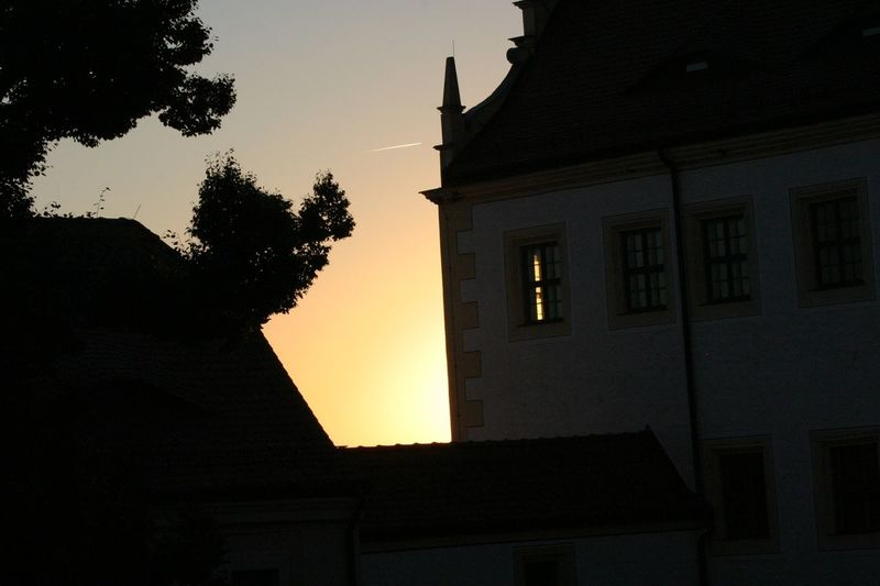 Colditz Castle In Sunset