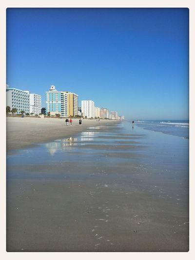 Warm day in Myrtle Beach, SC. Beach
