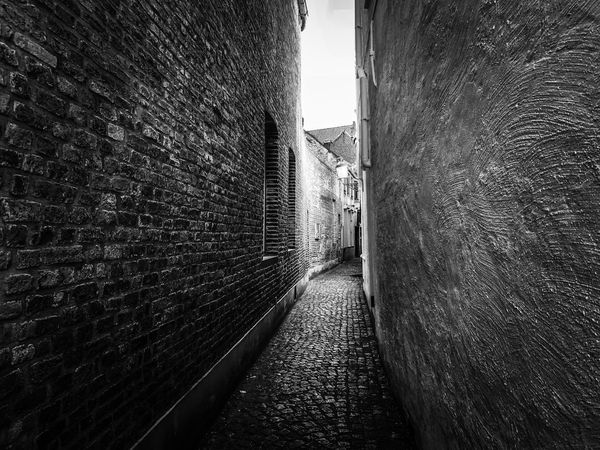 Architecture Built Structure Wall - Building Feature Wall Building Exterior Brick Wall No People The Way Forward Direction Brick Narrow Alley Day Building Outdoors Footpath Nature Old Empty Tunnel Stone Wall Long